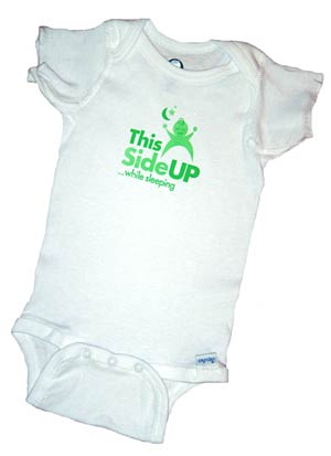 This Side Up onesie